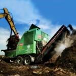 Compost-Shredding