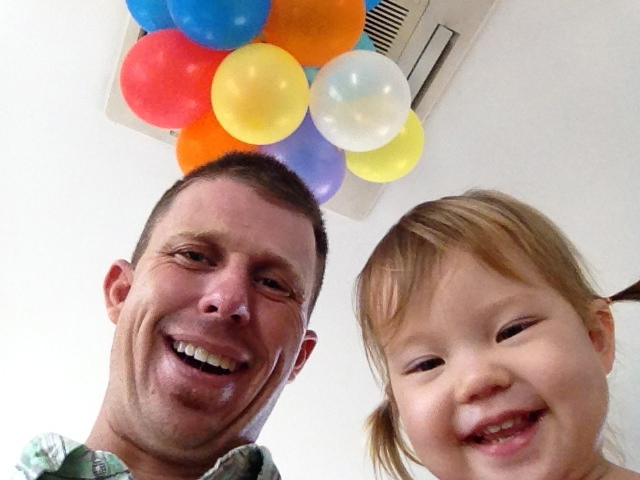 Daddy/daughter date for Lyla's 2nd birthday