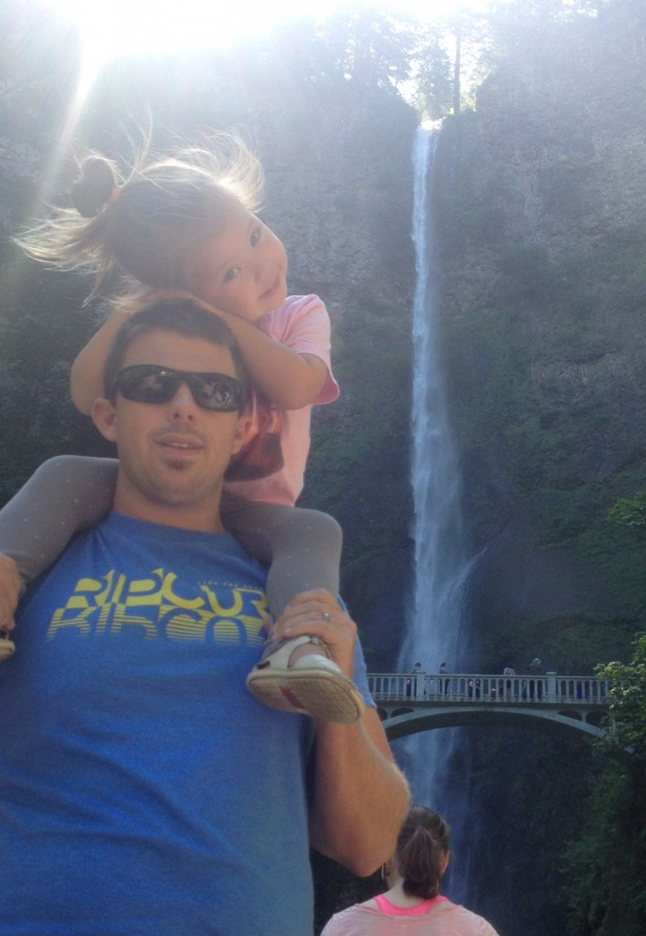 Pit stop at Multnomah Falls, on our way to the Oregon Coast