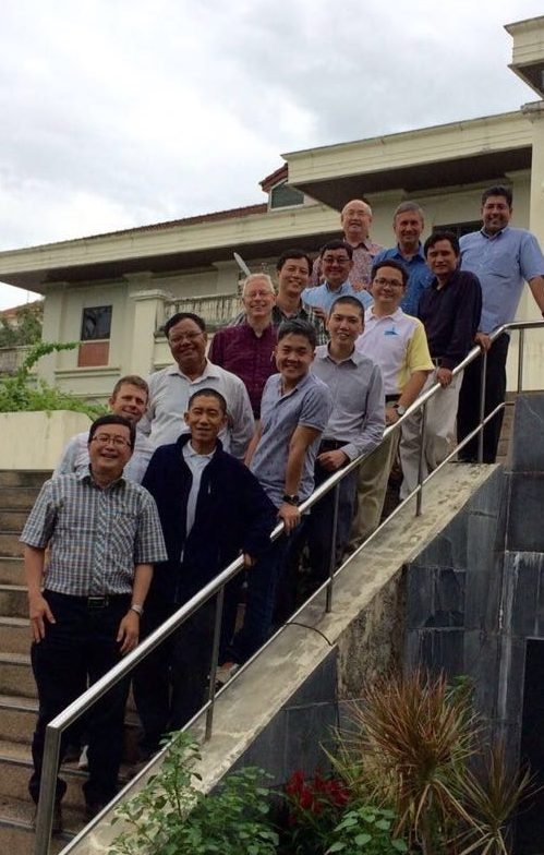 Garth continues his Doctorate in Ministry through Fuller Theological Seminary, out of a co-hort that is run in Thailand. Here he is pictured with his fellow students and professors.